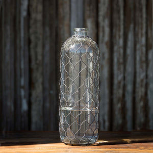 Bottle with Poultry Wire, 13""