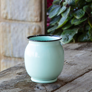 Enamel Petite Pot Belly Vase