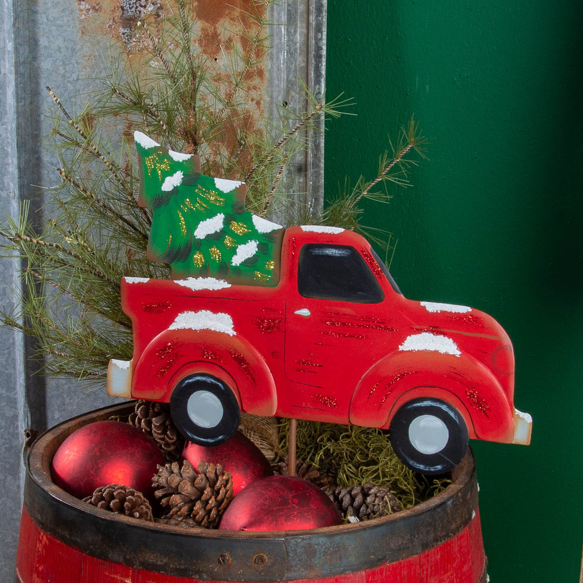 Red Truck With Christmas 