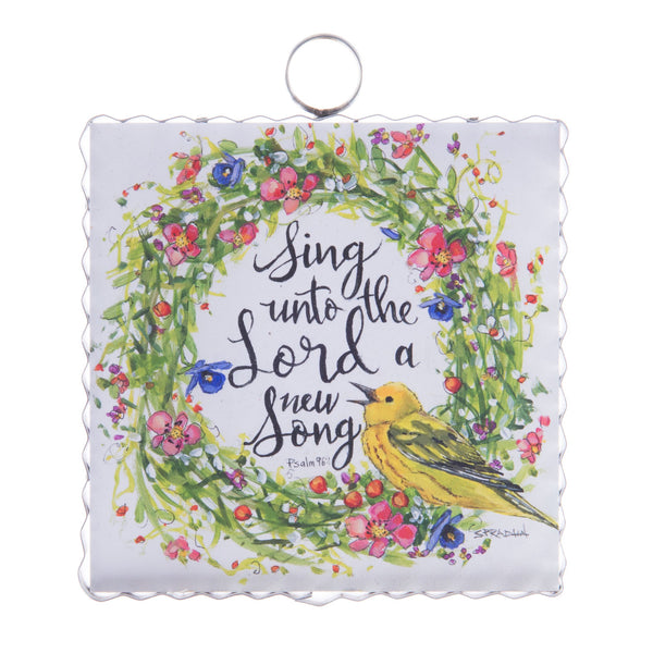 "MINI ""SING A SONG"" WREATH PRINT"