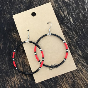 Black & Red Hoops