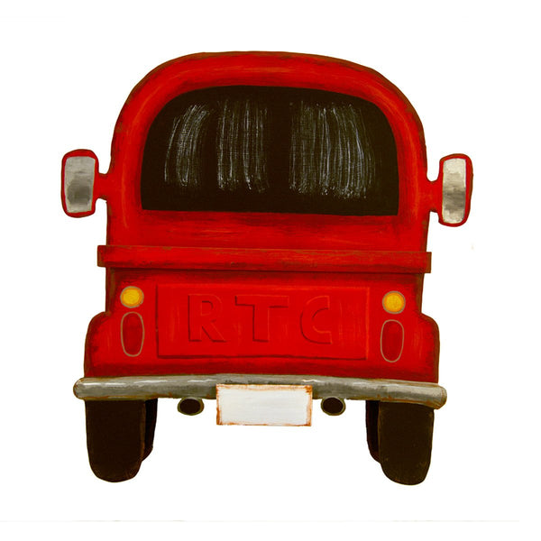 Red Truck Pocket Back View