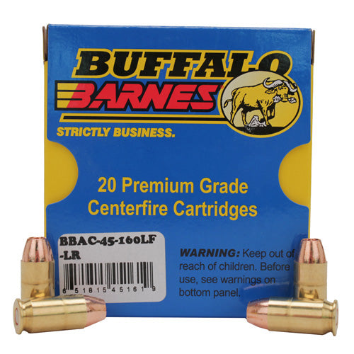 Buffalo Barnes Low Recoil 45 ACP 160 Grains TAC-XP (Per 20) - RTP Armor