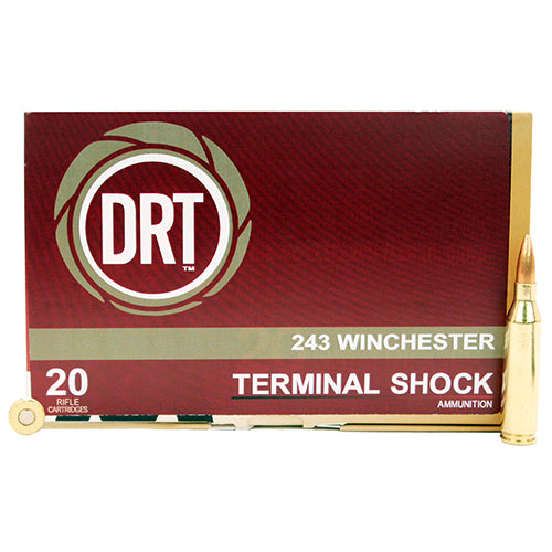 Dynamic Research Technologies 243 Winchester 95 Gr Terminal Shock (Per 20) - RTP Armor