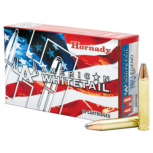 Hornady .350 Legend American Whitetail Ammunition 70gr Interlock Spire Point Per 20 - RTP Armor