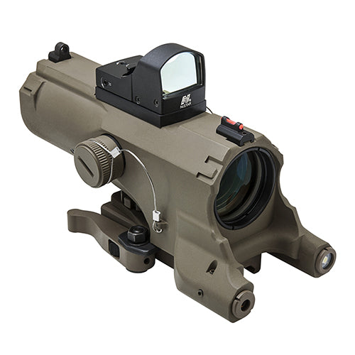 Eco 4X34 Prismatic Scope /Blue ill/Tan - RTP Armor
