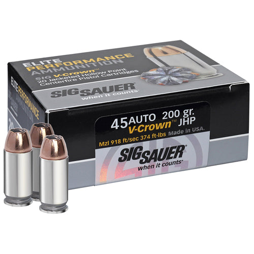 Sig Sauer Elite V-Crown Ammunition - RTP Armor