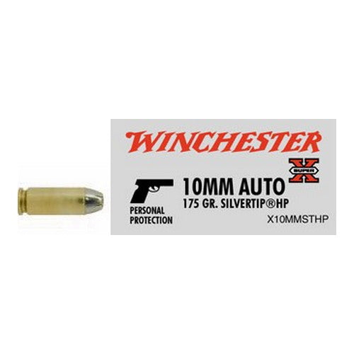 Winchester  10mm Automatic 175 Grains Silvertip Hollow Point Per 20 - RTP Armor