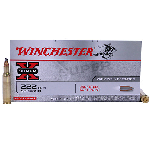 Winchester  222 Remington Super-X 50 Grains Pointed Soft Point Per 20 - RTP Armor