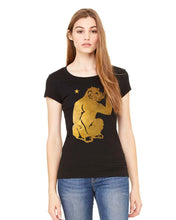 Ladies Sheer Jersey T-Shirt - Gold Monkey