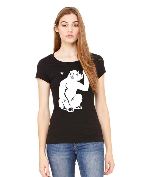 Ladies Sheer Jersey Tee - White Monkey