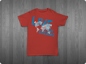 "7 Mindsets Red ""Live Your Dreams"" T-Shirt"