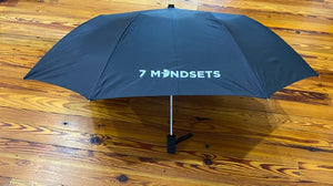 7 Mindsets Black Umbrella