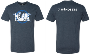 "7 Mindsets Midnight Navy ""We are Connected"" T Shirt"