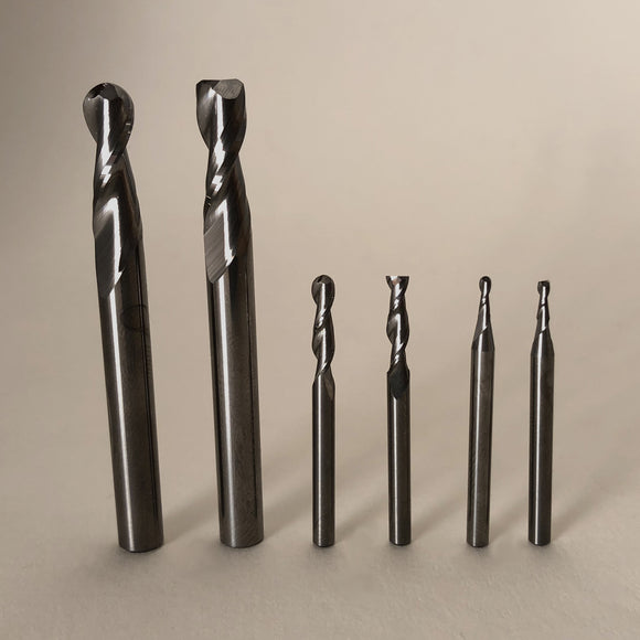 6 Piece 2 Flute End Mill Set