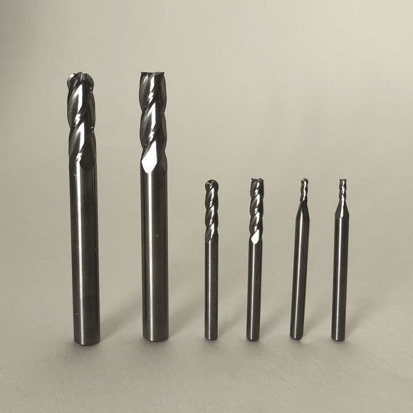 6 Piece 4 Flute End Mill Set