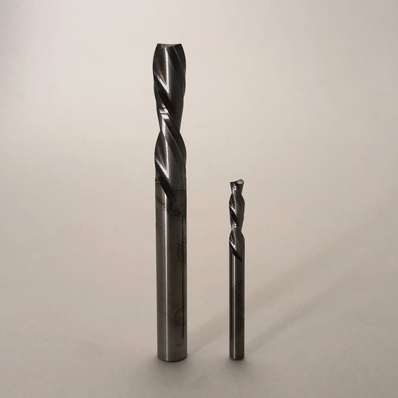 2 Piece Down Cut End Mill Set