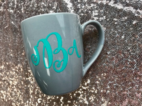 Monogram Coffee Cup