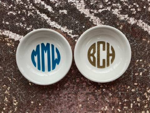 Custom Monogram Ring Dish
