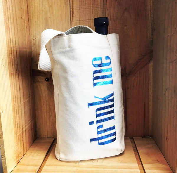 Canvas Wine Tote - Small
