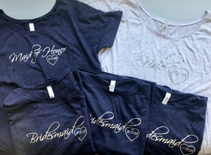 Classic Bridal Party Tee Set