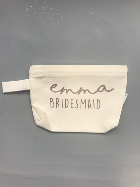 Custom Canvas Make-up Bags