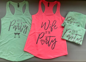 Wife of the Party Bachelorette Tanks
