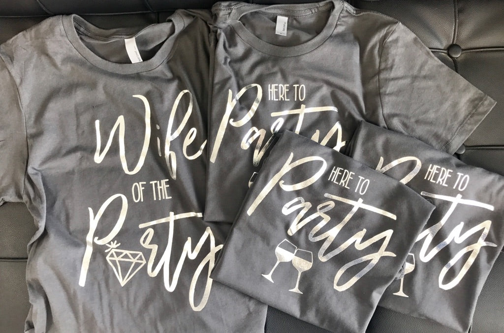 Wife of the Party Bachelorette Tees