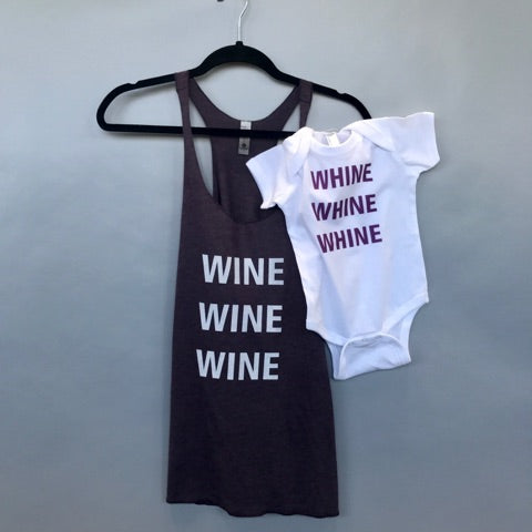 Wine-Whine Purple Mama & Baby Set