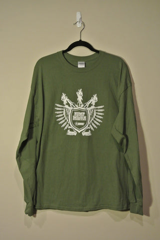 Classic Pump Militia Long Sleeve Olive w/ White