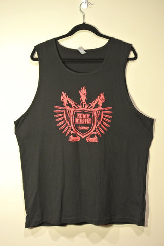 Classic Pump Militia Tank Top Black w/ Red