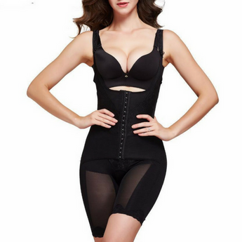Amazing Shape Open-Bust Mid-Thigh Compression Shapewear