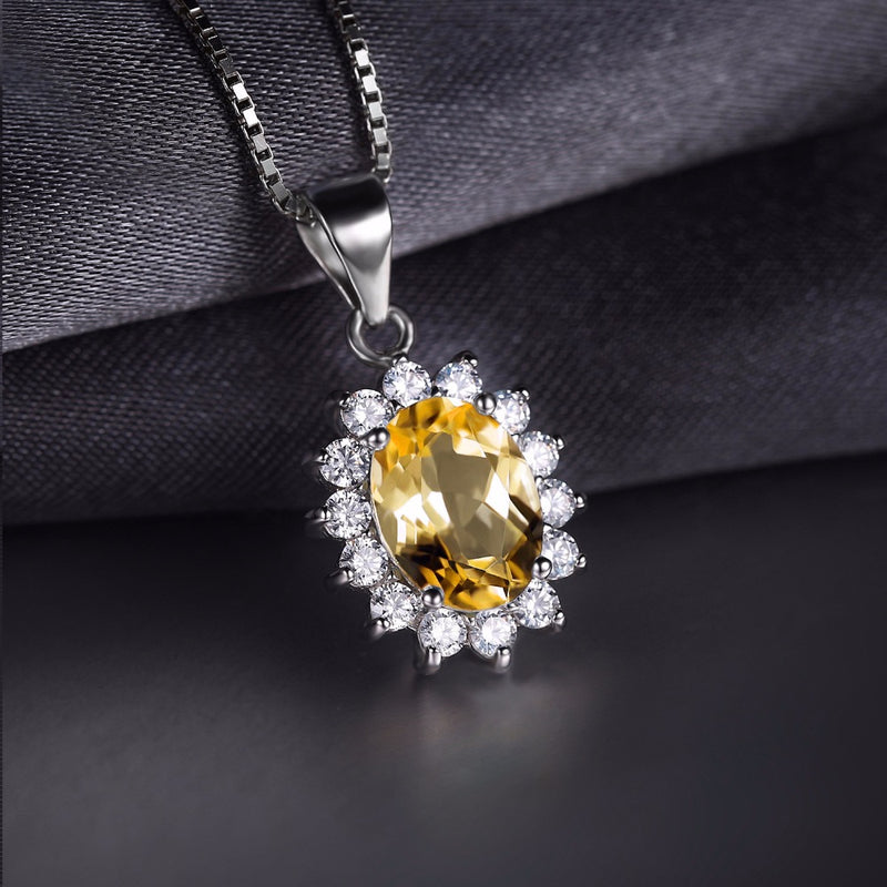 Luxury Citrine 925 Sterling Silver Pendant