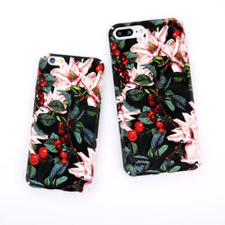 Adorable Flower and Cherry iPhone Case