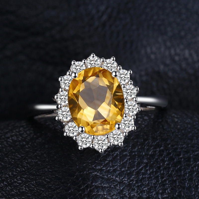 Sterling Silver Classic Citrine Ring