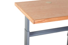 Electric height Adjustable desk - Beech 100-160cms wide x 80cm deep.
