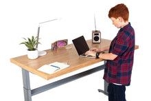 Electric height Adjustable desk - Oak 100-160cms wide x 80cm deep