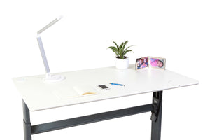 Electric height Adjustable desk - White 100-160cms wide x 80cm deep