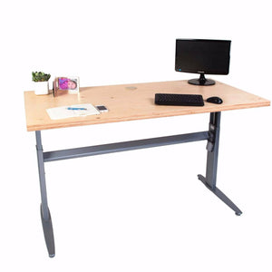 Electric height Adjustable desk - Plywood 100-160cms wide x 80cm deep.