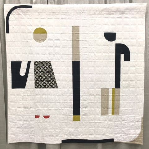 Bathroom Quilt by Lynn E. Stuart