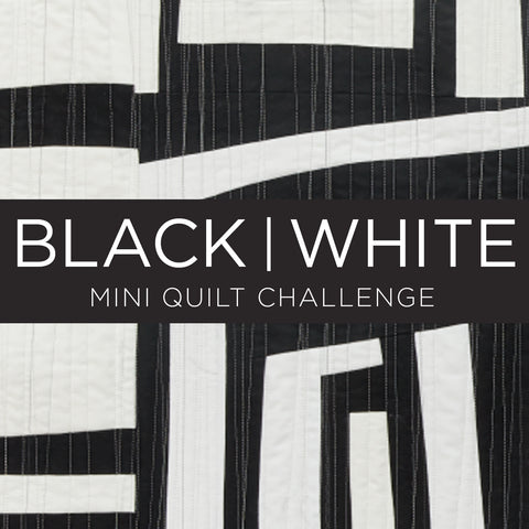 Black & White Mini Quilt Challenge for Curated Quilts - Deadline August 31, 2019