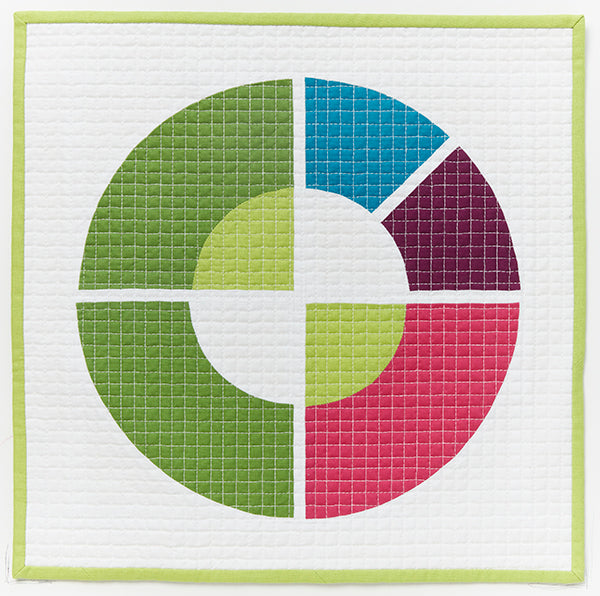 Circulo by AnnMarie Cowley for Curated Quilts Mini Quilt Challenge
