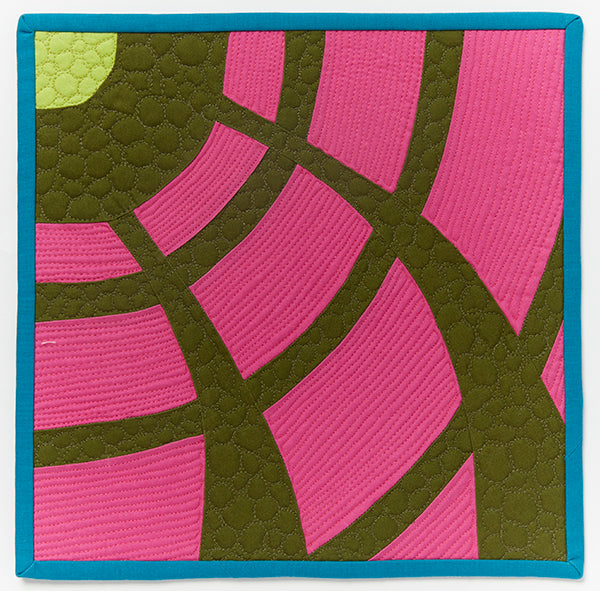 The Pantheon by Sharon Hamlin for Curated Quilts Mini Quilt Challenge
