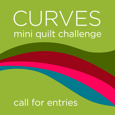 Curves Mini Quilt Challenge for Curated Quilts