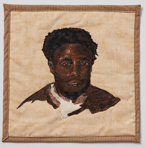 Elijah based on the painting, Head of a Negro by John Singleton Copley (1777-1778) by Kim Pierce, featured in Applique, Issue no. 11