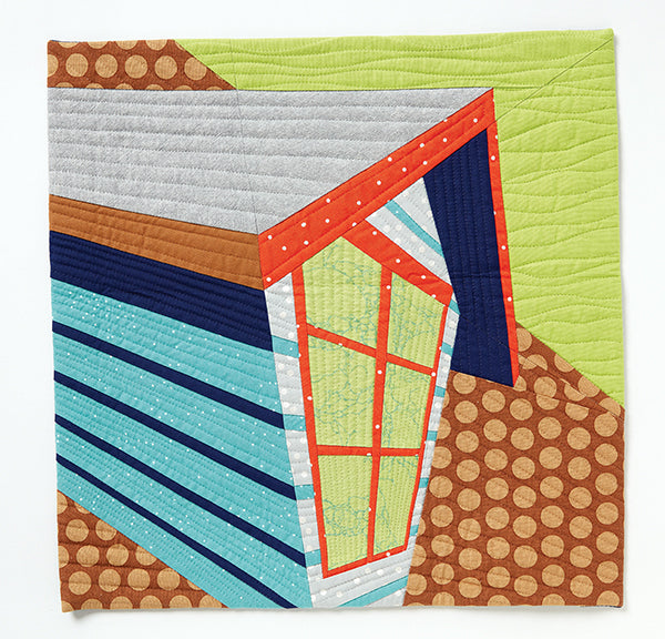 Upward Perspective by Cassandra Ireland Beaver for Curated Quilts Mini Quilt Challenge