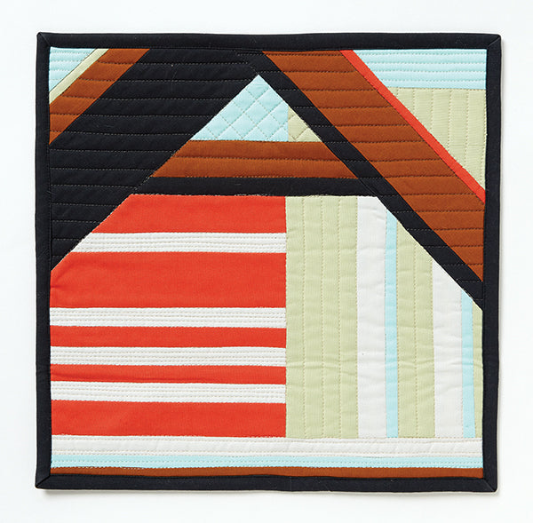The Ordered House by Heather Black for Curated Quilts Mini Quilt Challenge