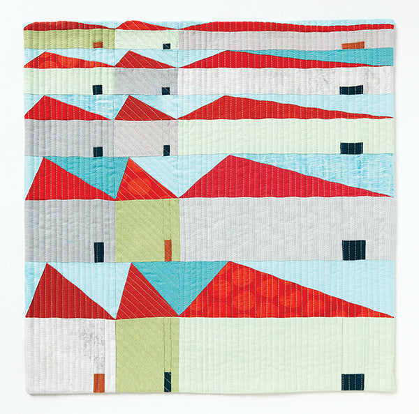 Little Boxes Made of Ticky Tacky by Meredith Lee Sewell for Curated Quilts Mini Quilt Challenge