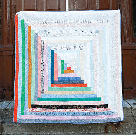 Giant Log Cabin Jelly Roll Quilt by Jeni Baker