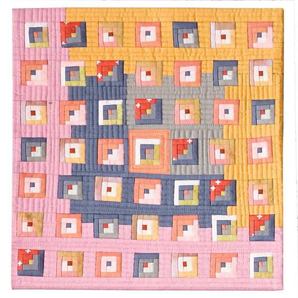 Log Cabin Jamboree by Audrey Workman for Curated Quilts Mini Quilt Challenge